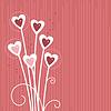roter Hintergrund mit Herzen