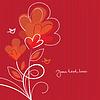 Czerwonym tle z serca | Stock Vector Graphics