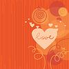 Liebe Hintergrund mit abstrakten Herzen
