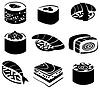 Set von Sushi