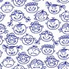 Nahtlose Muster von baby cartoon Gesichter