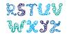 Swirly Schriftart. Briefe Set RZ