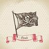 Piratenflagge mit Totenkopf