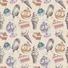Nahtlose Muster mit Eis und Kuchen