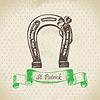 St. Patrick `s Day Vintage Hintergrund