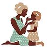 Karte der glückliche Tag der Mutter. Schöne Mutter s