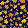 nahtlose Muster mit regen und Blätter