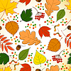 ID 3547350 | Nahtlose Muster mit bunten Blätter im Herbst | Stock Vektorgrafik | CLIPARTO