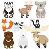 Cute Cartoon Tiere eingestellt