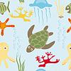 Meerestiere Muster