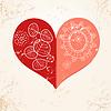 ID 3574544 | Dekorative roten Herzen auf strukturellen Hintergrund | Illustration mit hoher Auflösung | CLIPARTO