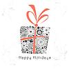 ID 3601812 | Karta z pozdrowieniami z ozdobnych prezent | Stockowa ilustracja wysokiej rozdzielczości | KLIPARTO