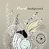 ID 3601815 | Floraler Hintergrund mit verliebtem Vogel | Illustration mit hoher Auflösung | CLIPARTO