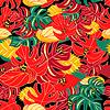 Exotische Muster und Dschungelfrösche
