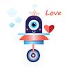 Roboter in der Liebe lustig