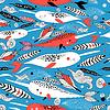 Marine-nahtlose grafische Muster mit verschiedenen Whit
