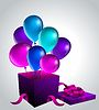 Geschenk mit Luftballons