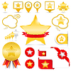 Design-Elemente mit Sternen