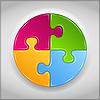 Koło puzzle | Stock Vector Graphics