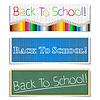 Powrót do szkoły banery | Stock Vector Graphics