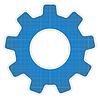 Blueprint Zahnrad-Symbol