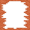 Broken, cegła, ściana | Stock Vector Graphics