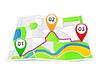 abstrakter Karte mit Pins