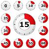 Czerwone zegary | Stock Vector Graphics