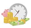Время деньги концепция | Векторный клипарт