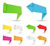 Banery origami i strzały | Stock Vector Graphics