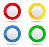 Okrągłe przyciski ze strzałką | Stock Vector Graphics