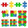 Jigsaw puzzle | Stock Vector Graphics