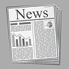 Abstract Newspaper | 向量插图