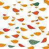 Падение листьев   Векторный клипарт