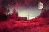 붉은 밤. NASA가 제공 한이 이미지의 요소 | Stock Foto