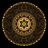 Dekorative gold frame with vintage runde Muster o