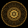 Dekorative gold frame with vintage runde Muster o | Stock Vektrografik