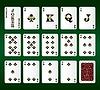 Spielkarten. Alle Clubs