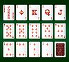 Spielkarten. Alle Diamanten