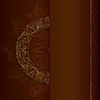 ID 3603229 | Gold vintage florale Muster auf braunem Hintergrund | Stock Vektorgrafik | CLIPARTO