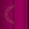 Gold vintage florale Muster auf rosa Hintergrund