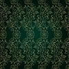 Floral vintage nahtlose Muster auf grünem Hintergrund