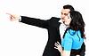 ID 3698216 | Mężczyzna i kobieta patrząc na coś człowieka pokazując | Foto stockowe wysokiej rozdzielczości | KLIPARTO