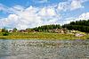Ländlichen Landschaft am Fluss Chusovaya | Stock Foto