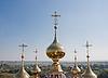 Kuppeln Kirche Flora und Lavra, Stadt Susdal, Russland | Stock Foto