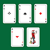 Vector clipart: Cards, winnings combinations of poker.