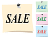 Sticker. Verkauf | Stock Vektrografik