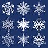 크리스마스 배경입니다. 눈송이 | Stock Vector Graphics