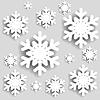 Weihnachten Hintergrund. Snowflakes | Stock Vektrografik