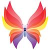 화려한 나비의 원활한 배경 | Stock Vector Graphics